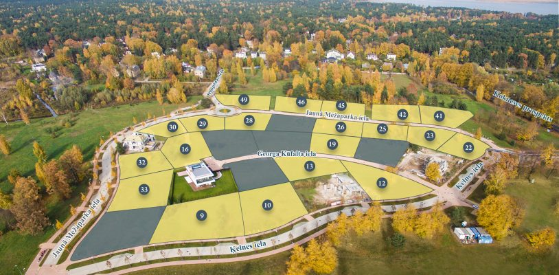 Mežaparka Rezidencēs pieejami privātmāju būvniecībai gatavi zemes gabali